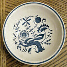 GAILSTYN made in Japan BLUE MEADOW Berry Dessert Fruit Bowl ONION FLOWER Pattern