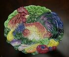Fitz and Floyd rooster plate  dish canape serving Coq du Village