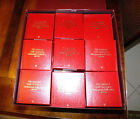 Set of 36 M.I. Hummel Gold Christmas Ornaments Collection Danbury Mint w/Boxes