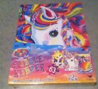 New Three Lisa Frank 63 Piece Puzzles With Great Puzzle Keeper & 16 Stickers