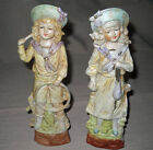 German Bisque Porcelain Figurines - Boy and Girl