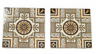 Mintons China Works Stoke on Trent - Set of 2 Geometric Design Tiles - Antique