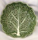 OLFAIRE MAJOLICA~POTTERY FROM PORTUGAL ~ GREEN CABBAGE SIDE DISH SERVING BOWL