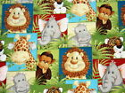 Patty Reed Jungle Babies Nursery Childrens Fabric BTY