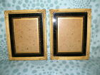 2 Vintage Ornate Gesso Style Picture Frames Reverse Painted Glass Frame 5 x 7