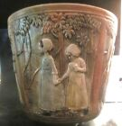 WELLER FLEMISH/WOODCRAFT-  JARDINIERE 'LITTLE GIRLS IN THE FOREST' - EXCELLENT