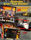 INDIANAPOLIS 500 By BALLY 1995 ORIGINAL NOS PINBALL MACHINE PROMO SALES FLYER