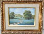 Small Original Dallas Texas Bluebonnet Landscape Painting by Mary Harden