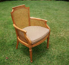 Beautiful Vintage Hollywood Regency Style Cane Chair