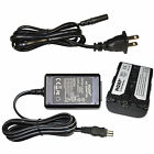 AC Power Adapter / Charger and Battery fits SONY Handycam Series Camcorder