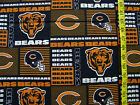NFL CHICAGO BEARS PATCH 100%  COTTON FABRIC  BY THE 1/4 YARD