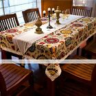 Mediterranean Style Sunflower Lace Cotton Linen Tea Dining Tablecloth 55