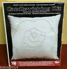 NIP Valiant Crafts Candlewicking Victorian Rose Pillow Kit