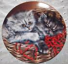 Baskets of Love Collector Plate ~ #3  ~ Kitty Cats ~ Emily & Elliott ~ Porcelain