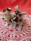 VINTAGE UNTERWEISSBACH PORCELAIN dog couple,terrier puppies,stamped handpainted