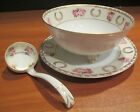 Regina Ware Bone China Germany 3 Footed Bowl Matching Serving Spoon Underplate