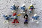 7 Smurf Figures Lot Papa Smurf  Smurfette and more
