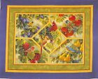 Bird Sanctuary Wild Wings Wall Hanging Fabric Panel by Rosemary Millette