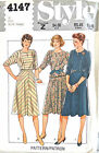 4147 Vintage Pattern UNCUT Misses Women Pullover Top Bias Skirt Sz 12 Style