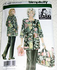 Simplcity 4746 Patty Reed Misses Hobby Coat  Pants & Bag Pattern XS-S-M