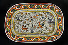 Lg Casafina Portugal Platter Hand Painted w/ Animals & Flowers 19 1/4