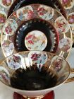Vintage Bavaria Germany Hand Painted Cup Saucer Plate Set Victorian Couple