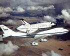 SPACE SHUTTLE COLUMBIA CARRIED ATOP 747 CARRIER AIRCRAFT 8X10 PHOTO BB 206
