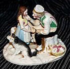 Antique Porcelain Figurine, Man, girl and a dog Price Reduced!!!!