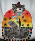 Fitz & Floyd  Kitty Witches Canape Serving Plate - Hand painted 7.5