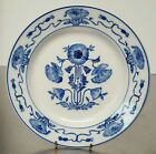 ANTIQUE VILLEROY & BOCH DRESDEN SAXONY FLOW BLUE DINNER PLATE C1874-1909 GERMANY