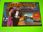 MILLIONAIRE By WILLIAMS 1987 ORIG NOS PINBALL MACHINE TRANSLITE BACKGLASS SHEET