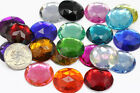 25mm Flat Back Round Acrylic Jewels High Quality Pro Grade 21 Available Colors