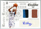 ANDREW WIGGINS 2014-15 EXCALIBUR ROOKIE RAMPAGE RC AUTO BALL PATCH 122 349
