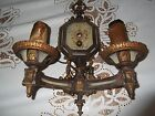 VINTAGE ANTIQUE 2 ARM ORNATE CURVED WALL SCONCE LIGHT FIXTURE
