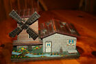 Wood Music Box with windmill on a chalet
