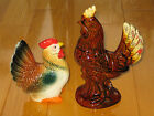Beautiful Vintage ROOSTER and HEN Porcelain Figurines From Japan