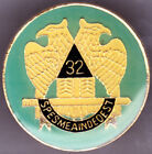 32nd Degree Scottich Rite Hat Lapel Pin Freemason Mason New