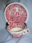 Spode Copeland PINK TOWER Oversized Cup & Saucer * Old Mark * 2-Pieces