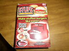 NEW! STUFZ STUFFED BURGER MAKER AS SEEN ON TV HAMBURGER PRESS BBQ STUFF STUFFS