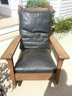 Antique 1912-14 Stickley Oak & Leather Mission Style Rocking Chair  ALL ORIGINAL