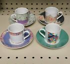 Eschenbach Porzellan Germany Demitasse Cups and Saucers (4)  in Living Colour