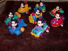 WALT DISNEY WORLD VINTAGE MICKEY MOUSE WIND UP MOTION TOYS LOT 8 TOYS 1980'S