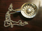 Vintage Silverplate Wine Taster Cup w Chain Sommelier Marked PM Italy