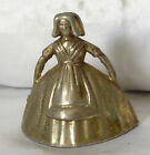 Very Collectable Small Metal [not brass ] Lady hand bell with pewter clapper U56