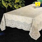 NEW Luxury Vinyl Lace Tablecloth Oblong Rectangle 52