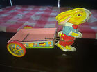 Co Tin Toy Bunny Rabbit with Wagon 8.5 x 5