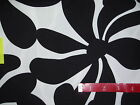 Black and white flowers Large Print fabric- home decor- 1 yd