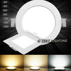 3 4W 6W 9W 12W 15W 18W 20W 25W Dimmable LED Recessed Ceiling Panel Light Fixture