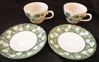 Churchill  Ivy Pattern Verdigris Fine English Tableware Two (2) Cups