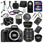 Nikon D5200 Digital SLR DSLR Camera + 3 Lens 18-55mm + 32GB KIT